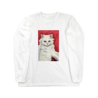 しろねこさんグッズ Long sleeve T-shirts
