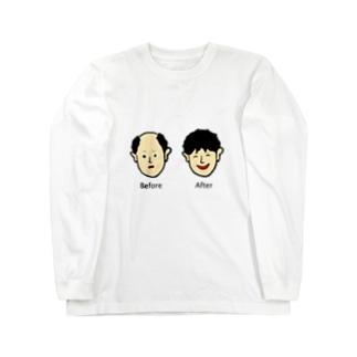 増毛 Long sleeve T-shirts