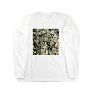 雪柳の大群。 Long sleeve T-shirts