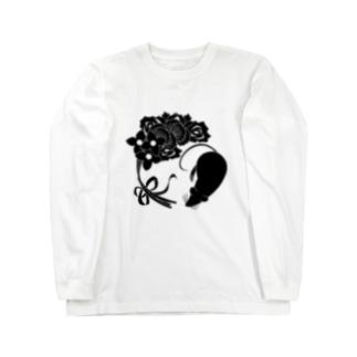 SF家紋「鼠に華束」 Long sleeve T-shirts