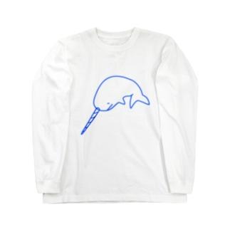 イッカクのジュウちゃん 青 Long sleeve T-shirts