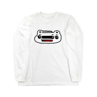 くまめ ワープする Long sleeve T-shirts