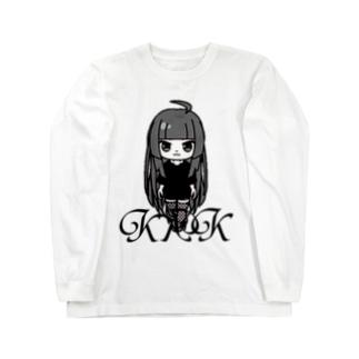 きくこモノクロシリーズ Long sleeve T-shirts