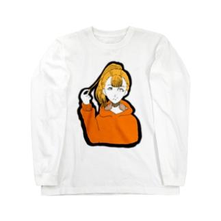るーと。:°ஐ*。:°ʚ♥ɞ*。:°ஐ*のポニテ Long sleeve T-shirts