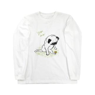 ヨガパグ Long sleeve T-shirts