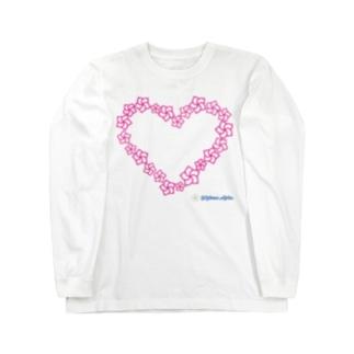 プルメリアハート マカナアロハ Makana Aloha Long sleeve T-shirts