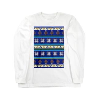ノルディックブルー Long sleeve T-shirts