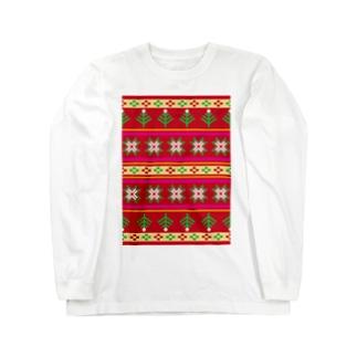 ノルディックレッド Long sleeve T-shirts
