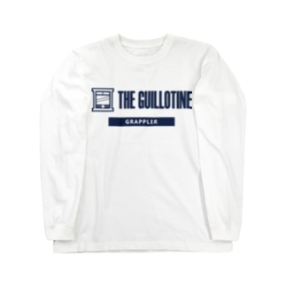 THE GUILLOTINE NAVY Long sleeve T-shirts