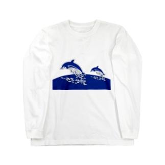 親子のドルフィンジャンプ! Long sleeve T-shirts