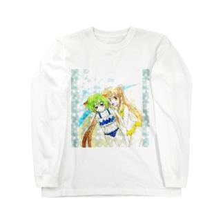 紅葉(くれは)と紫蘭(しらん) Long sleeve T-shirts