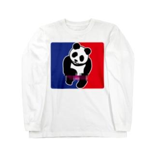 パンダトルネードパンティ脱ぎ モザイク Long sleeve T-shirts