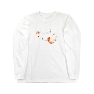 ぺろねこさん Long sleeve T-shirts