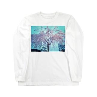 枝垂れ桜 Long sleeve T-shirts