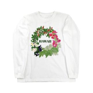 花輪HAWAII Long sleeve T-shirts