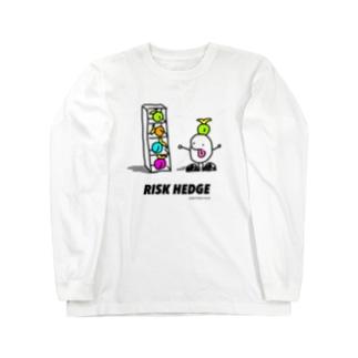 リスクヘッジするもやしくん Long sleeve T-shirts