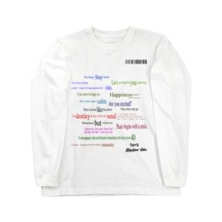ランダム英文 Long sleeve T-shirts