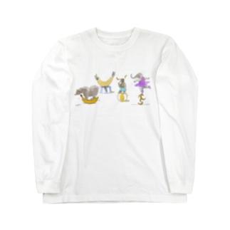 バナナサーカス団 Long sleeve T-shirts