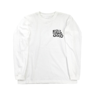 REALSTYLE 黒文字 Long sleeve T-shirts