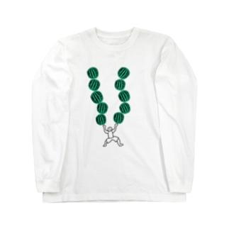 Animaletc.のすいかわっしょい Long sleeve T-shirts