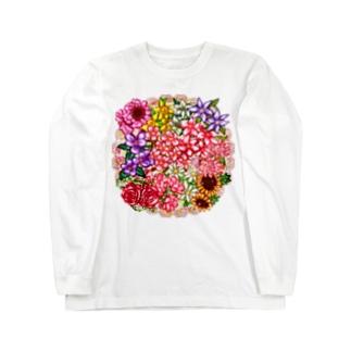 「花籠」Series * flower*basket.*❁ Long sleeve T-shirts