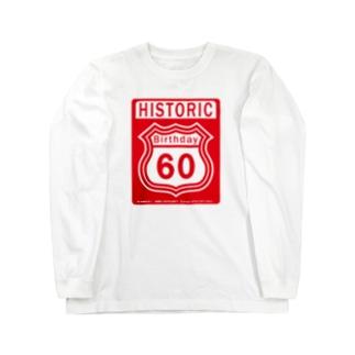 ルート66風 還暦アニバーサリー赤 2008モデルリメイク 2018 Long sleeve T-shirts