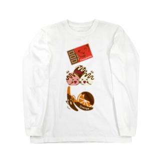 スイーツタイム-チョコ・トリュフ・オランジェ-sweets time-スイーツタイム- Long sleeve T-shirts