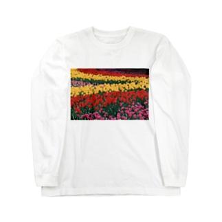 虹色の道 Long sleeve T-shirts