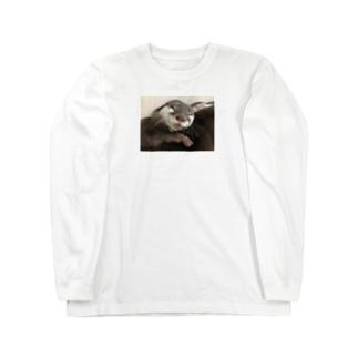 癒しかわうそ Long sleeve T-shirts