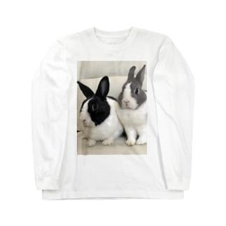 癒しウサmimi Long sleeve T-shirts