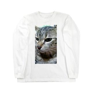 強運の持ち主ももちゃんです(^▽^)/ Long sleeve T-shirts
