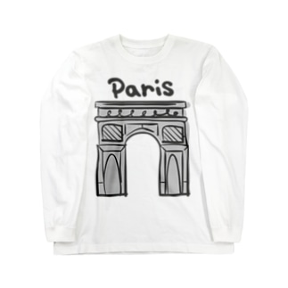 paris -凱旋門- Long sleeve T-shirts
