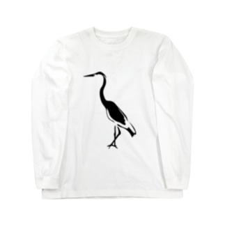 モルディブ bird Long sleeve T-shirts