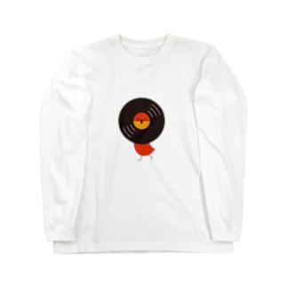 レコードリお日様 -Left Walk Long sleeve T-shirts