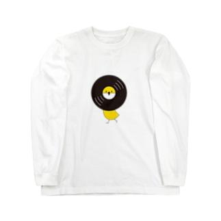 レコードリ秋の滝 -Left Walk Long sleeve T-shirts