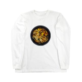 秋の炊き込みご飯 Long sleeve T-shirts