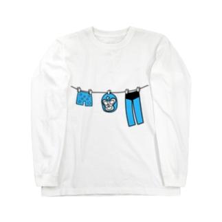 マスクマンの休日 Long sleeve T-shirts