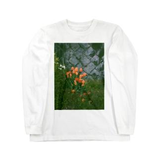 オレンジチューリップ Long sleeve T-shirts