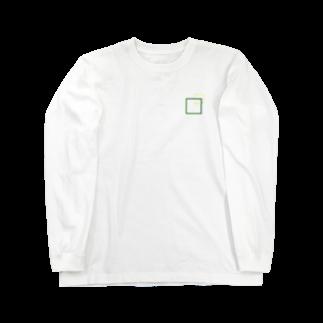 ユニークショップどひゃんご丸のシンプルに四角でデザッちゃったよ! Long sleeve T-shirts