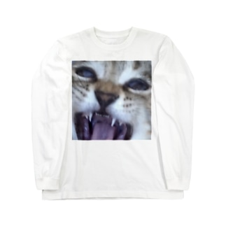 ねこのかお Long sleeve T-shirts