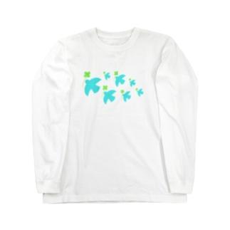 クローバーを運ぶ鳥 Long sleeve T-shirts