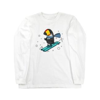スキーヤー Long sleeve T-shirts