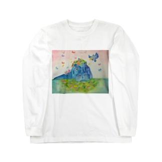 花の帽子 Long sleeve T-shirts