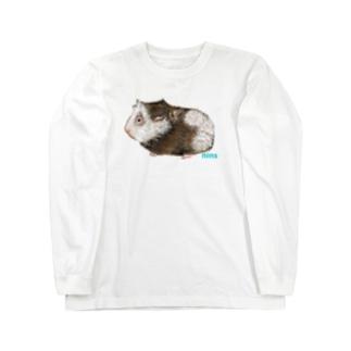 かわいいモルモット (アビシニアンミックス) Long sleeve T-shirts