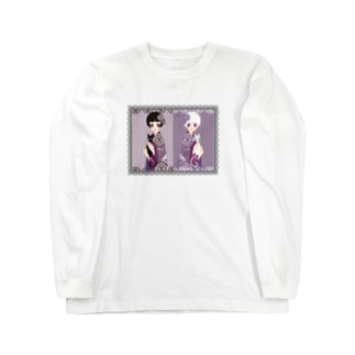twins_和モダン 黒レース Long sleeve T-shirts