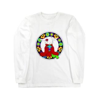 うさぎと手毬 Long sleeve T-shirts