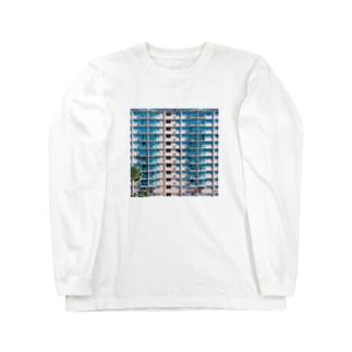 ウェスアンダーソンのようなハワイのリゾートホテル Long sleeve T-shirts
