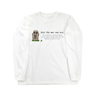 Just the way you are_moai_2 Long sleeve T-shirts