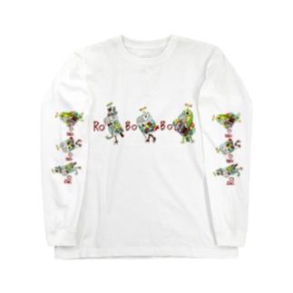 ROBOBO ちょびすけロボ ボルトロボ ボウ助ロボ Long sleeve T-shirts