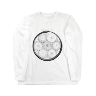 太陽系<アンティーク・イラスト> Long sleeve T-shirts